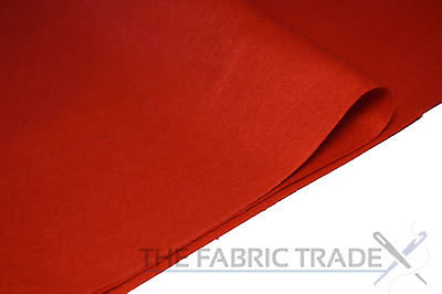 Red Craft Felt Fabric Material - 100% Acrylic - 2mm Thick - 150cm Wide