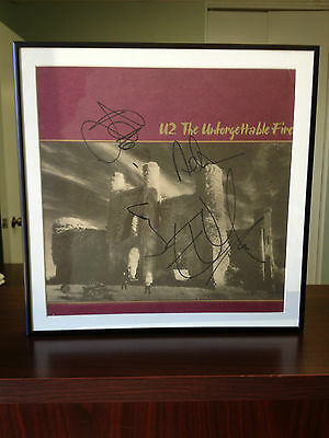 U2 Autographed The Unforgettable Fire