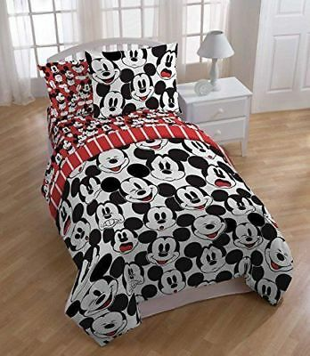 New Disney Mickey Mouse Emotional Faces Twin Microfiber Reversible Comforter