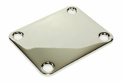"Guitar Fat Neck Plate 2"" x 2 1/2"" .104"" thick Made in the USA Nickel (no screws)"