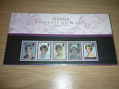 Diana Princess Of Wales Prince 1961-1997 royal mail mint stamps
