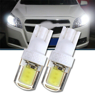 2Pcs T10 W5W COB LED Auto Car Super Bright Silica License Plate Light Bulb White