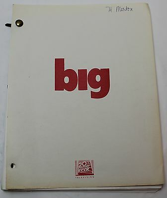 """Big *1990 TV Series Script Unmade by Linwood Boomer from """"malcolm in the middle"""""""