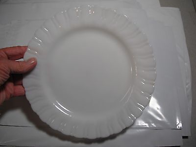 "9"" Depression Glass Plate Macbeth Evans Swirl Rim  Ringed Bottom USA"