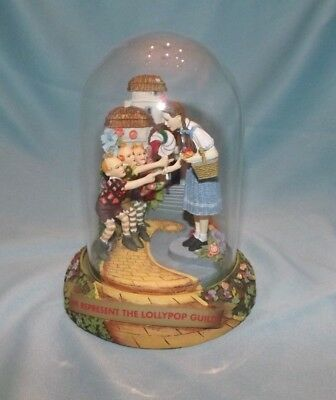 Wizard Of Oz We Represent The Lollypop Guild Music Box Globe EUMC Franklin Mint