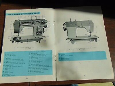 Coronado SEWING MACHINE MANUAL IN ENGLISH AND FRENCH MISSING COVER