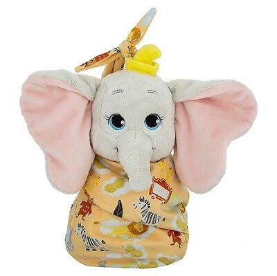 Disney Parks Baby Dumbo in a Blanket Pouch Plush New with Tags