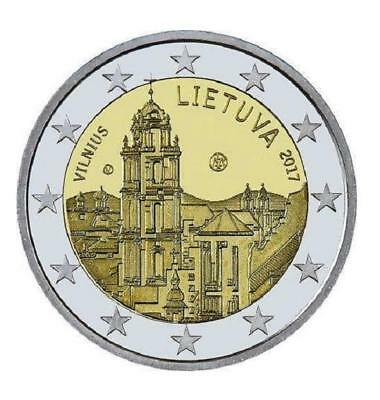 2 EUROS -LITUANIA 2017- VILNA CAPITAL CULTURAL - S/C - Ya disponible