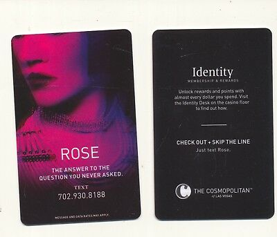 """ROSE""-2nd issue-THE COSMOPOLITAN----Las Vegas, NV---Room key"