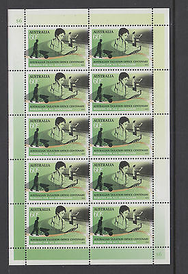 Australia 2010 Taxation Office Centenary Sheetlet  MNH, Free Postage!