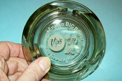 Vintage 1960s/1970s Vip's Big Boy Glass Ashtray
