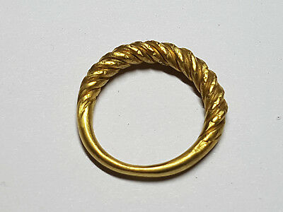 Viking Gold Twisted Braid Ring  9th-11th century AD
