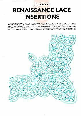 part 52 Embroidery Magic Embroidery transfers renaissance lace insertions