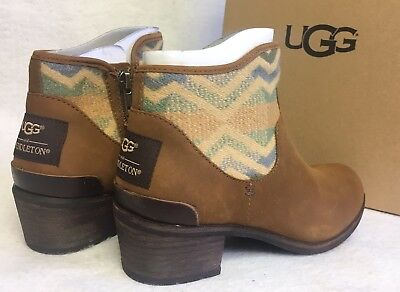 a391a6e9177 UGG® AUSTRALIA PENELOPE Brown Leather Ankle Boots Uk 4 Eur 35 Us 5 ...