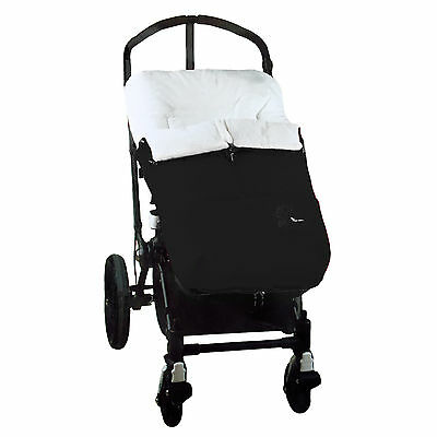 NEW Interbaby Designer Plush Pushchair Polar Cocoon Footmuff Cosytoes BLACK