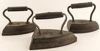 3 Different Vintage Irons Lot 2531