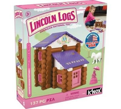 LINCOLN LOGS - Country Meadow Cottage - 137 Pieces - Ages 3 Preschool Education
