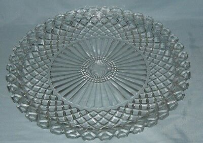 """Anchor Hocking Waterford Waffle Serving Torte Plate 14"""""""