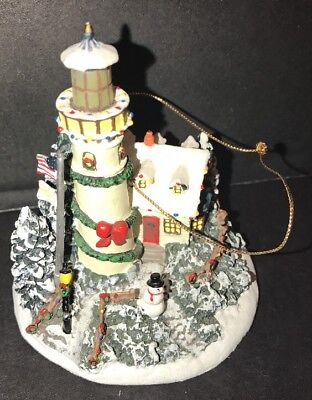 Thomas Kinkade Lighthouse Ornament Light In The Winter Storm Heirloom Collection