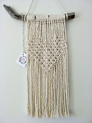 macrame wall hanging boho canvas nursery art bohemian tapestry fibre decor