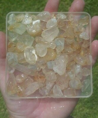 GemFarmer TZ1: 1/2 Lb Lot of Raw Topaz Rough Crystals From Brazil Multi Color