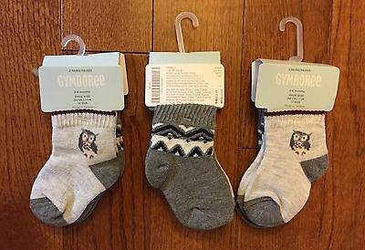 NWT 6 Pairs Of New Gymboree 3 To 6 Months (3-6mo) Baby Boy Socks! Shoe Size 2