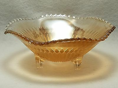"""Vintage Carnival Glass Footed Bowl - 6"""""""