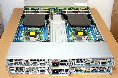 SUPERMICRO 64 CORE 2U 2.6GHz/256GB INTEL XEON E5-2670 6027TR-HTFRF NODE SERVER