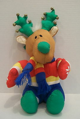 Stuffed Christmas Reindeer with Jingle Bells