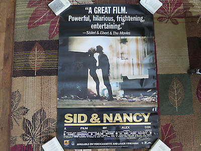 Sid and Nancy movie poster 1986! one sheet