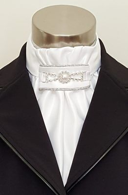"ERA  ""Regal"" Isabella  Euro Stock Tie with Pearl Embellishment"