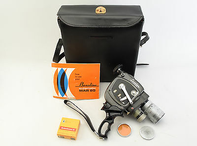 RARE Beaulieu Automatic MAR 8G Movie Camera With Grip, Case & Film V42
