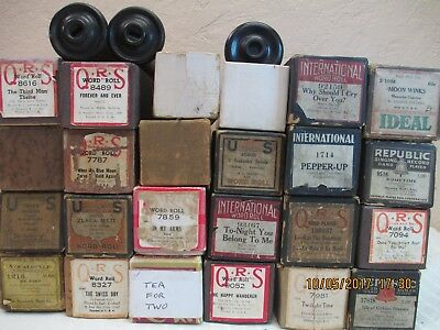 Lot of 27 Vintage Player Piano Rolls