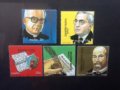 Malta 2005 Maltese Personalities set of five stamps  Mint NH VF
