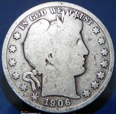 1906 O Barber Silver Half Dollar Circulated New Orleans Mint!