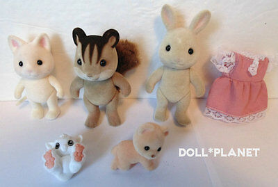 Calico Critters - Big Lot: CAT SQUIRREL RABBIT BEAR +more Sylvanian Families