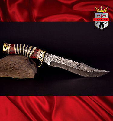 Damascus hunting knife, 072A Special Edition KingForge, Bowie knives bush gift
