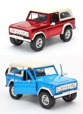 1:24 scale 1973 Ford Bronco (RED or BLUE) Diecast Models by Jada Just Trucks