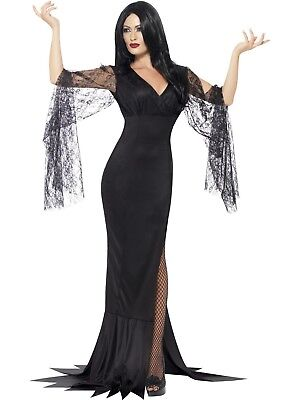 Immortal Soul Morticia Witch Addams Family Costume Halloween Fancy Dress