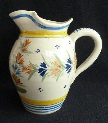 Vintage  Henriot Quimper Pottery Large Jug Decorative French Rustic