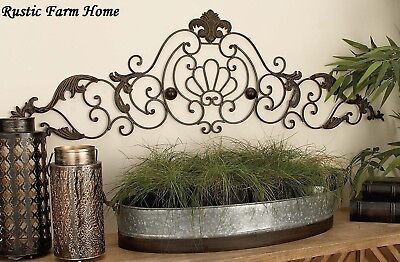Classic Scroll Wrought Iron Metal Wall Decor Rustic Antique Indoor Outdoor