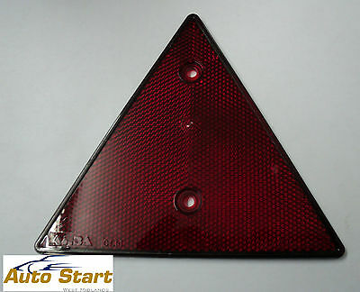 Triangle Screw fit Red Reflector
