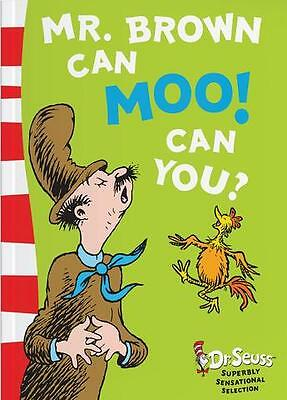 NEW Dr Seuss - Mr. Brown Can Moo! Can You? - Blue Back Book