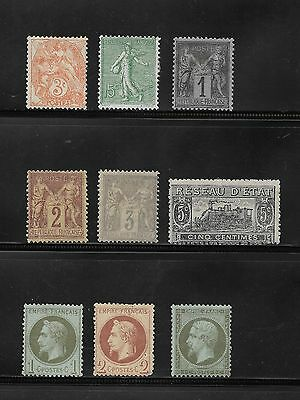 1862 Onwards Collection Of France Stamps Unused