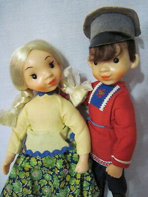 Russian Vintage Dolls,Boy and a Girl,Plastic,Moscow,USSR. New! Rare!