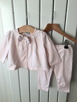 Baby Girl's Clothes 3-6 Mths - GAP Pink Satin Bow Detail Jacket & Leggings