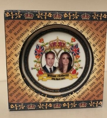 "Royal Wedding 4"" Bone China Plate H.R.H Prince William and Catherine Middleton"