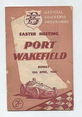 1960 Port Wakefield Labor Day Programme Racing Touring Sports Motorcycle Car