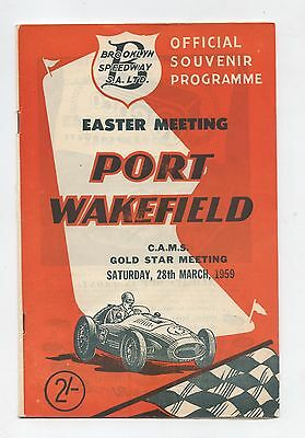 1959 Port Wakefield Easter Programme Racing Touring Sports Car Program