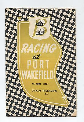 1956 Port Wakefield Programme Racing Touring Sports Motorcycle Car